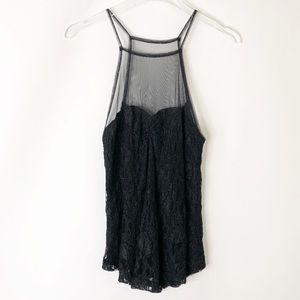 Kimchi Blue lace and mesh tank top